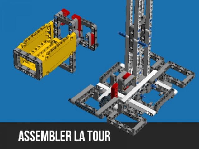 Assemblage de la tour de lancement