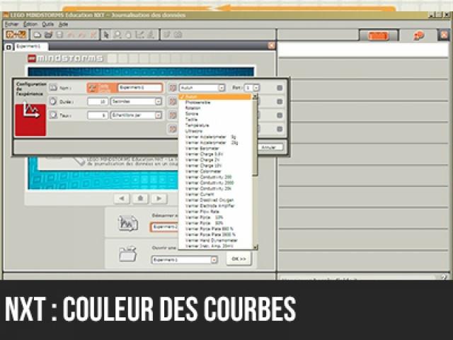 NXT : Changer la couleur des courbes du logiciel de journalisation des données