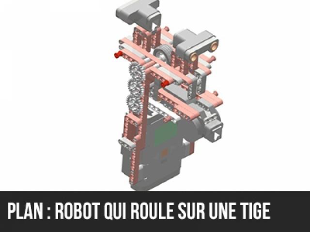 Plan de montage d'un robot sur une tige