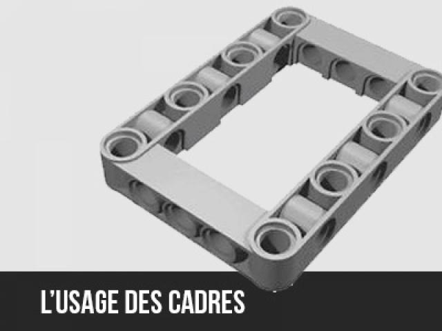 L'usage des cadres dans la construction d'un robot