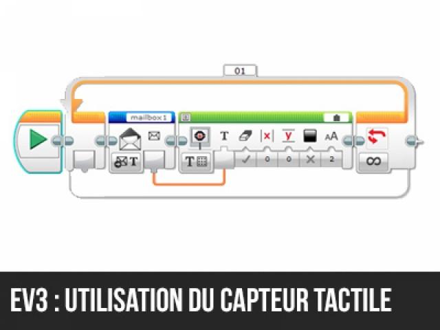 Utilisation du capteur tactile en EV3
