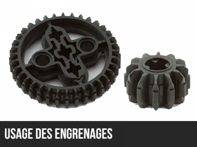NXT : Usage des engrenages