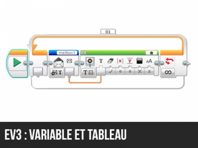 EV3 : Sauvegarder un code dans une variable tableau